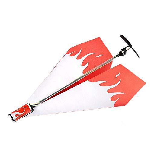 freneci Flugzeug RC Faltpapier Modell DIY Motor Motor Flugzeug Power Kids Boy Spielzeug