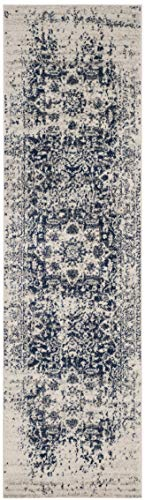 Safavieh Madison Collection MAD603D Vintage Snowflake Medallion Distressed Runner, 2' 3