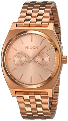 Nixon Damen-Armbanduhr Time Teller Deluxe Analog Quarz Edelstahl beschichtet A922897-00
