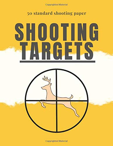 shooting targets paper: standard target sheets for shooting, 50 paper with perfect size 8.5 x 11 inch for Guns, Rifle, sniper, Pistol, Airsoft, BB ... aim, also could be as logbook for gun lovers