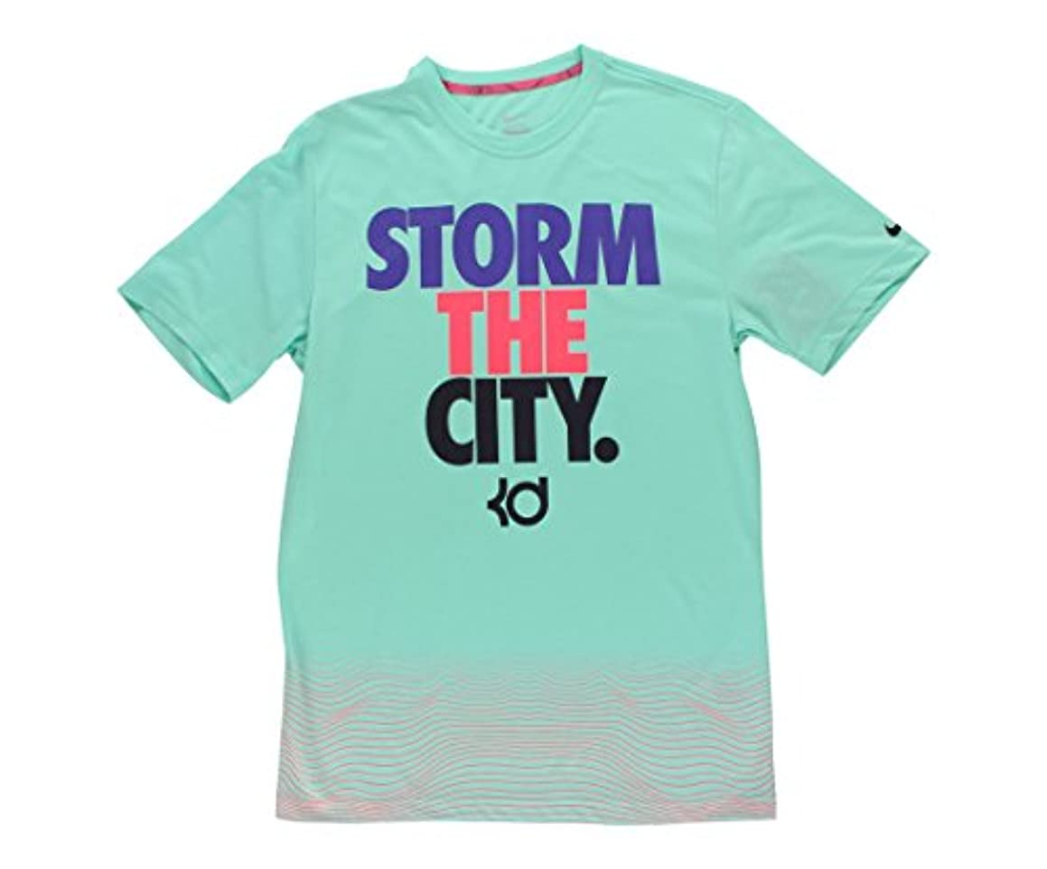 NIKE Men's Kevin Durant 35 KD State of Mind Storm The City Dri-Shirt Turquoise