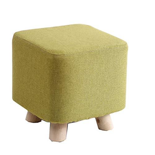 JUN Poufs et repose-pieds- Tabouret en bois massif mode créatif petit banc maison chaise en tissu changement chaussures tabouret canapé tabouret adulte rond tabouret tabouret pour le couloir du salon