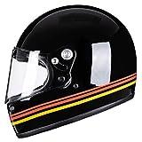 VCOROS A600 gafas de fibra casco de moto cara completa DOT Unisex Retro Hombre Mujer casco jet