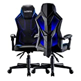UOMAX Gaming Stuhl mit LED-Leuchten, Breitem Flachem Kissen Gamer Sessel,...