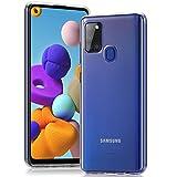 Wonanse Handyhülle Entwickelt für Samsung Galaxy A21s Hülle, [Anti-Gelb] [Ultra Slim] [Kristallklar] [Stoßfest] [Fallschutz] Weiche Silikon TPU Schutzhülle für Samsung Galaxy A21s - Transparent