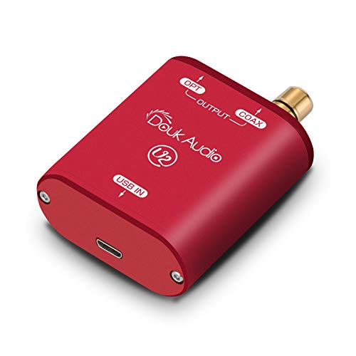 Douk Audio U2 USB-Konverter XMOS XU208 Digitale Schnittstelle TOSLINK Coax DSD 192KHz (rot)