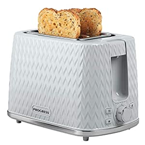 PROGRESS® EK3860PGRY Chevron 2-Slice Toaster with Variable Browning | 930 W