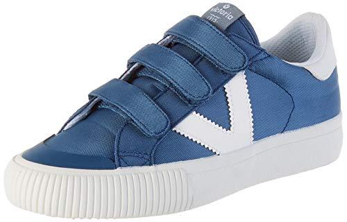 victoria Unisex-Kinder Deportivo Velcros Nylon Sneaker, Blau (Azul), 32 EU