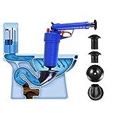 Fdit Air Power Drain Blaster, Hochdruck-Ablauföffner für Toilette Badezimmer blau
