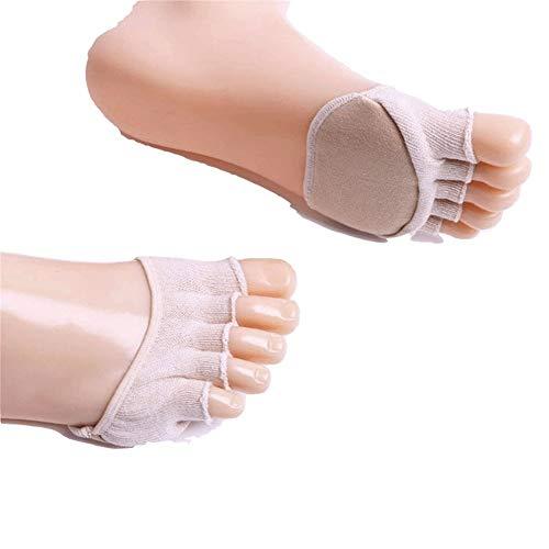 Preisvergleich Produktbild Nvfshreu Invisible Socks Zehen Socken Poru Heels Freizeit High Schuhe Toe Einfacher Stil Socken Bequeme Freizei Trainingssocken Weiche (Color : Weiß,  Size : One Size)