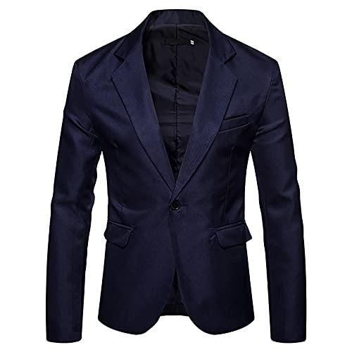 oglccg Business Blazer Männer Modisch Anzugjacke Einfarbig Sakko Slim Fit Jacket Business Anzugsakko Hochzeit Party Herrenjacke Anzug Mantel Slim Fit Blazer