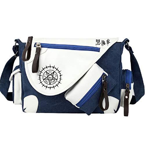 GO2COSY Anime Messenger Bag Handtasche Crossbody Tote Bag Student Bag Schultertasche für Black Butler Cosplay
