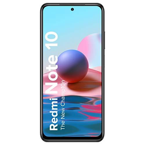 Redmi Note 10 (Shadow Black, 4GB RAM, 64GB Storage) – Super Amoled Display | 48MP Sony Sensor IMX582 | Snapdragon 678 Processor