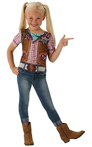 Disfraz de Rodeo Cowgirl para niña, camiseta - infantil 8-10 años (Rubie's 630694-L)
