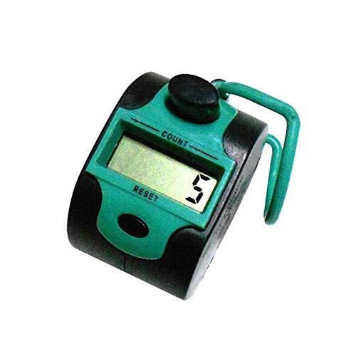 Fingerzähler von Senrise, digitaler Handzähler mit 5 Ziffern für Runden/Sport/Trainer/Schule/Events (rot, 1 Stück), grün