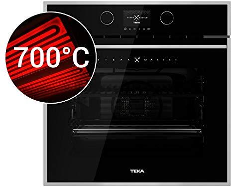 Teka SteakMaster Einbau-Backofen 700°C Power-Grill Pyrolyse Reinigung Schwarz