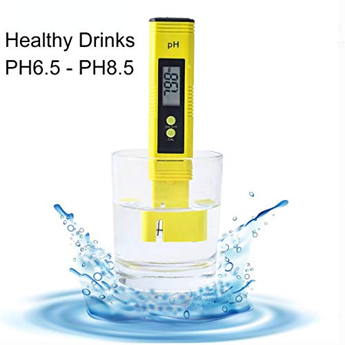 DigitalPHMeterWaterQualityTesterfor Food Brewing HydroponicsAquariumROSystemPools, 0-14PHAutomaticTemperatureCompensation 0.01pH Accuracy, 0-60 Celsius,3Pack withCalibrationSolution