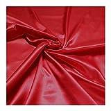 Stoff Polyester Satin rot leicht blickdicht glänzend glatt