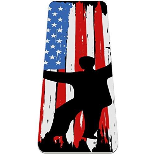 Colchoneta de Yoga Esterilla Yoga Material medioambiental TPE,Tai Chi Americano ,Espesor:6milímetros,8milímetros,Tapete de Deporte Grande y Antideslizante,Correas y Mochilas como Regalos