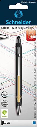 Schneider Epsilon Touch Druckkugelschreiber (Strichstärke XB, dokumentenechte Mine- Schreibfarbe: blau, inkl. Touchpen, Made in Germany) sortiert