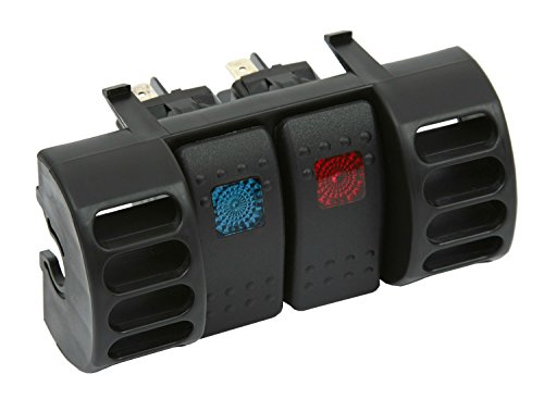 Daystar, Jeep TJ Wrangler Switch Pod, Air Vent, Includes 2 Daystar, Rocker Switches, Black, fits Cherokee XJ and TJ 1984 to 2006 2/4WD, KJ71036BK, Made in America