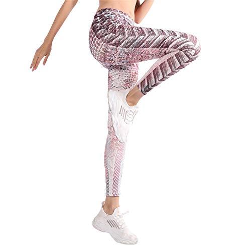 YpingLonk Pantalones de Yoga, Cintura Alta, Control de Barriga, elástico, Gimnasio, Entrenamiento, Correr, Leggings Deportivos para Mujer