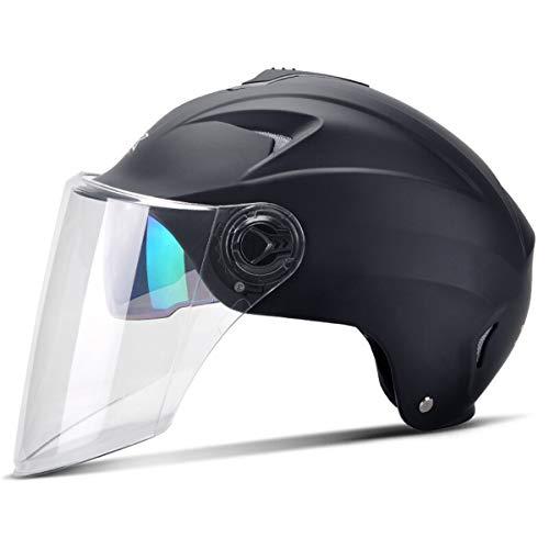 Half Open Face Motorcycle Helmet Motorbike Crash Helmets Cruiser Moped Scooter Sun Visor Men Women Adjustable Size