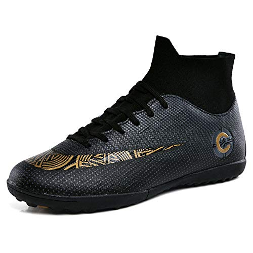 AIALTS Heren C Rogao High-Top Cleats Voetbalschoenen, Outdoor Indoor Grote Maat Training Sport Voetbal Sneaker Schoenen