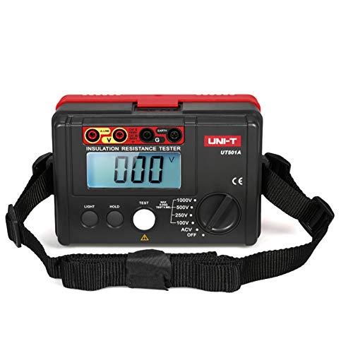 Weytoll Medidor de Resistencia de Tierra de Aislamiento 1000 V Megóhmetro Voltímetro con Retroiluminación LCD