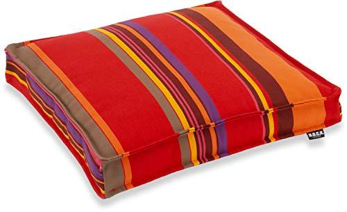 H.O.C.K. Yucatan Outdoor Sitzkissen/Stuhlkissen für den Garten, wasserabweisend/lichtecht (40x40x5cm, Rot)