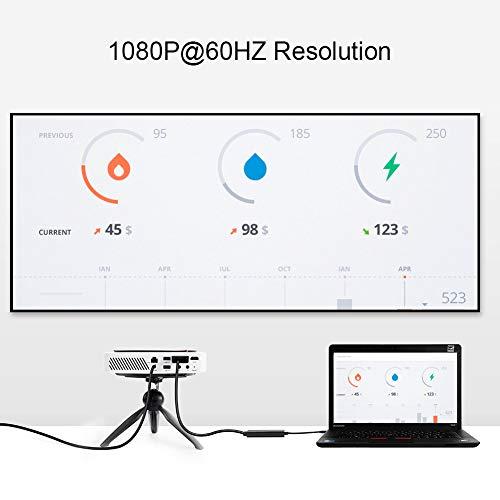 CableCreation 6ft USB Typ C (USB-C) zu VGA Stecker auf Stecker Kabel (DP Alt-Modus), für Apple das neue MacBook/Chromebook Pixel/Dell XPS 13 / Yoga 900 / Asus Zen AIO, 1,83 M Schwarz Farbe
