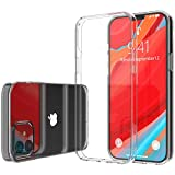 Luvvitt Clear View Case Compatible with iPhone 12 Mini Shockproof Drop Protection Slim Soft Hybrid TPU Gel Bumper and Hard PC Scratch Resistant Back Designed for Apple iPhone 12 Mini 2020 5.4' - Clear