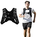 GYMAX Weighted Vest, 12lbs/20lbs Strap Adjustable Weight Vest Workout Equipment Men and Women for Strength Training, Running, Fitness (12)