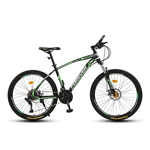 Mountain Offroad Bike,26 Inch 21Speed Ariable Speed Road Bicycle Men Women Sports Cycling Ride Green spoke wheel- 27spd