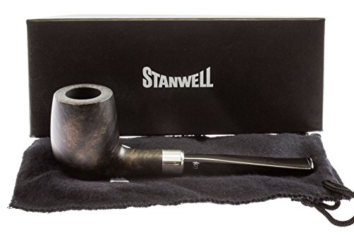 Stanwell Army Mount Black 03 Tobacco Pipe - Smooth