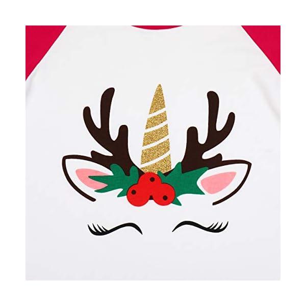 Girls Icing Lotus Ruffle Cotton T-Shirt Long-Sleeve Cuff Undershirt School Tee Christmas Raglan Casual Blouse 4