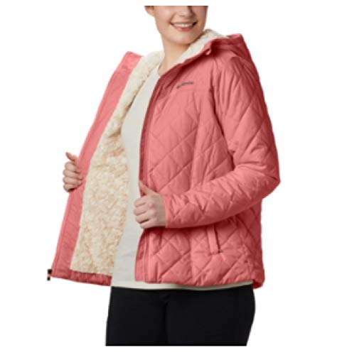 Columbia Women's Copper Crest Hooded Fleece-Lined Jacket RED LARGE