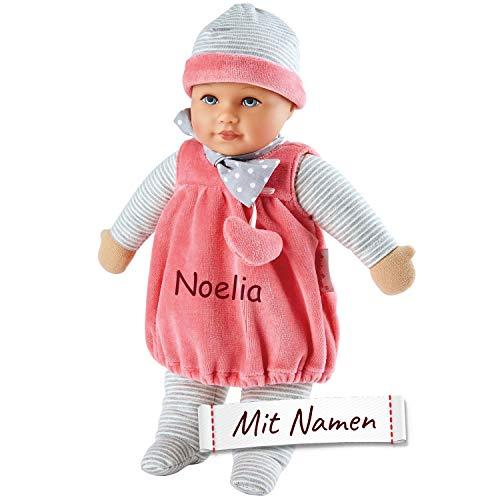 Käthe Kruse Puppe mit Namen Bestickt, Clara, Mädchen Kinder Puppe mit Kleidung personalisiert, Kuschelpuppe / Anziehpuppe, 0126606