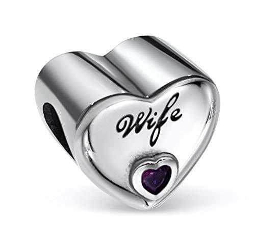 BOLENVI Colgante de plata de ley 925 con forma de corazón para pulseras o collares de Pandora y similares