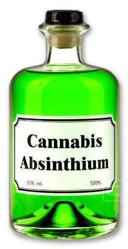 Cannabis Absinthium - Absinth mit Cannabis Aromen verfeinert - 0,5l - 55% vol. Alkohol
