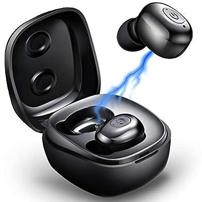 True Wireless Earbuds Mini Bluetooth Headphones Bluetooth Earbuds Wireless Headset with Microphone Sport in-Ear Ear Buds with Mini Charging Case