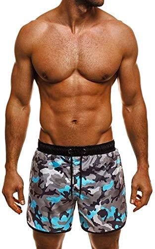 HaiDean Trunks Bicchierino di Svago Ad Rapida Casual Pantaloncini Asciugatura Moderna Nuotare con Maglia Uomo Primavera Estate Costume da Bagno Asciutto Rapido Surf Beach Nuoto Running Shorts