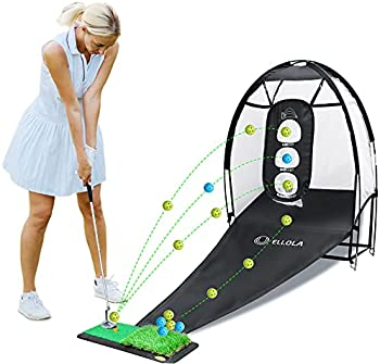 Ellolla Golf Practice Hitting Net with Golf Balls Target Chipping Holes