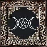 Altar Tarot Cloth: Triple Goddess with Pentagram