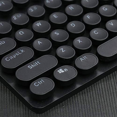 104 ronda Steampunk de teclado mecánico de luz de cristal transmisión keycap secundaria carácter moldeo Craft ABS enchufe clave,Negro