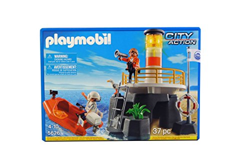 Playmobil - Playmobil 5626. Faro con balsa de rescate