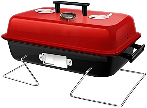 VULLDWS Juego de herramientas de barbacoa Grill de barbacoa de carbón, parrilla plegable de barbacoa con acero inoxidable neta a la parrilla para picnic al aire libre Camping Camping Cocina pa