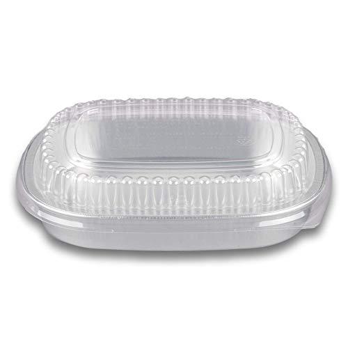 Tekbotic - Juego de 5 sartenes desechables de aluminio para lasaña, asar, sobras, para llevar, tartas, congelador (entrada, pequeño,...