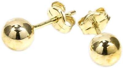 NKlaus coppia 5mm BALL PLUGS 585 oro giallo oro OHRSCHMUCK OHRRINGE tappi a sfera 5573