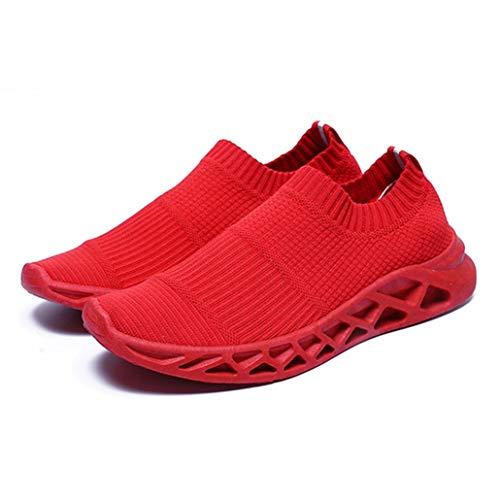 Générique Hommes Baskets D'été Respirant Maille Léger Slip on Low Top Couleur Unie Mode De Course Hommes Casual Chaussures